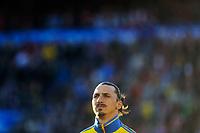 Fotball , Privatlandskamp <br /> Mandag 8. Juni 2015 , 20150608<br /> Norge - Sverige<br /> Zlatan Ibrahimovic<br /> Foto: Sjur Stølen / Digitalsport