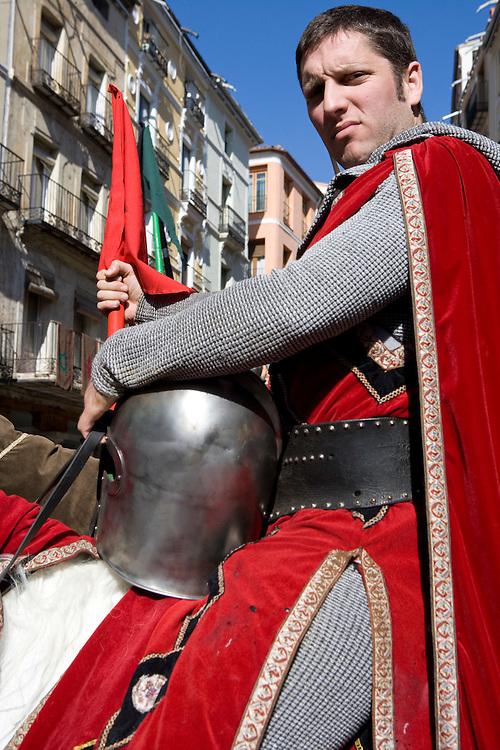 """Teruel. Representación de """"Las Bodas de Isabel de Segura"""", en San Valentín, conmemorando la leyenda del Siglo XIII de """"Los amantes de Teruel"""" (Isabel de Segura y Juan Martínez de Marcilla)."""
