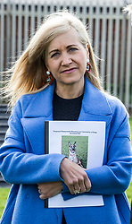 Pictured: Scottish SPCA Chief Executive Kirsteen Campbell<br /> <br /> SNP MSP Christine Grahame was joined at Edinburgh Cat and Dog home by animal welfare organisations and eight-year-old Dutch Shepherd Sasha to highlight her members bill to curb irresponsible dog breeding and buying. <br /> Ger Harley | EEm 4 May 2018