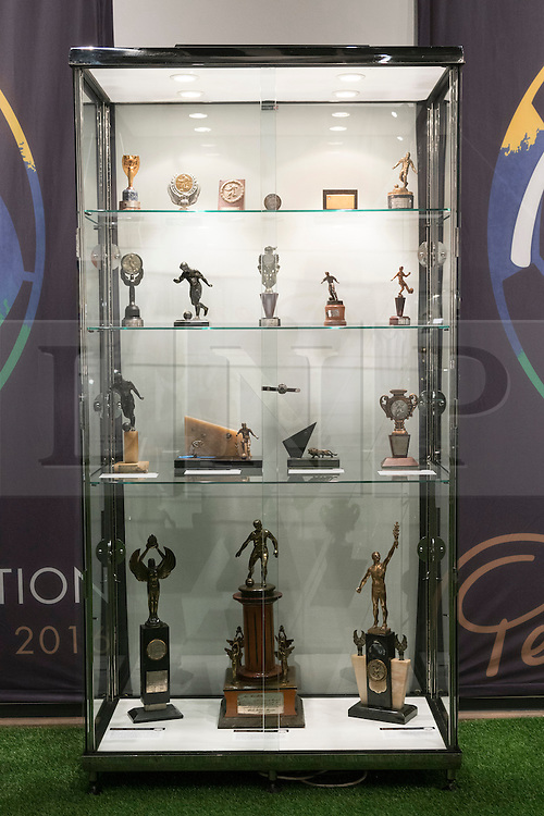 © Licensed to London News Pictures. 01/06/2016. Pele: The Collection with over 1,500 items of memorabilia owned by Pele for sale on later in June. London, UK. Photo credit: Ray Tang/LNP
