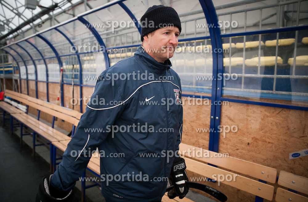 Nik Zupancic, assistant coach during practice session of Slovenian Ice Hockey National Team for IIHF World Championship in Sweden and Finland, on March 28, 2013, in Arena Zlato Polje, Kranj, Slovenia. (Photo by Vid Ponikvar / Sportida.com)