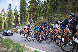 Rachele Barbieri (ITA) of Wiggle High 5 Cycling Team rides near the back on Stage 2 of the Amgen Tour of California - a 108 km road race, starting and finishing in South Lake Tahoe on May 18, 2018, in California, United States. (Photo by Balint Hamvas/Velofocus.com)