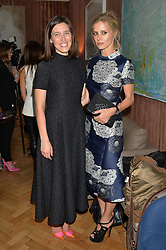Left to right, EMILIA WICKSTEAD and LAURA BAILEY at a cocktail reception to celebrate the launch of the Bicester Village the British Designer's Collective 2014 held at the The Keeper's House, Royal Academy of Art, Piccadilly, London on 20th May 2014.