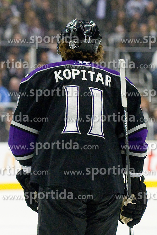 Anze Kopitar (Los Angeles Kings, #11) during ice-hockey match between Los Angeles Kings and Colorado Avalanche in NHL league, Februar 26, 2011 at Staples Center, Los Angeles, USA. (Photo By Matic Klansek Velej / Sportida.com)