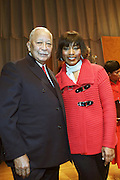 New York, NY- January 16:  l to r: Actress Angela Bassett and Former New York City David N. Dinkins at the New York City Service Program in Honor of Martin Luther King Jr. Day held at the Mirabel Sisters Campus in West Harlem, New York City. Photo Credit: Terrence Jennings