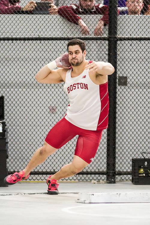 Boston University John Terrier Classic Indoor Track & Field: mens shot put, Ethan Knight, BU