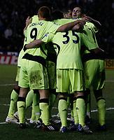 Photo: Steve Bond/Sportsbeat Images.<br />Derby County v Chelsea. The FA Barclays Premiership. 24/11/2007. Shaun Wright-Phillips (buried) celebrates