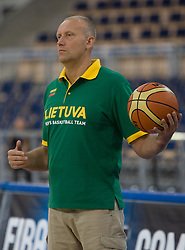 Assistant Coach of Lithuania Rimas Kurtinaitis during the practice session, on September 11, 2009 in Arena Lodz, Hala Sportowa, Lodz, Poland.  (Photo by Vid Ponikvar / Sportida)