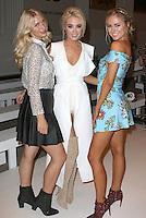 Olivia Newman-Young, Nicola Hughes & Kimberley Garner, London Fashion Week SS17 - Rocky Star, Freemason's Hall, London UK, 16 September 2016, Photo by Brett D. Cove