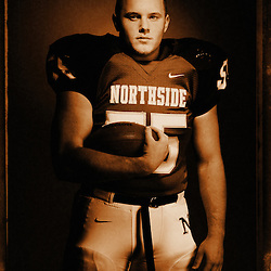 Kyle Green | The Roanoke Times<br /> December 16, 2009 All Timesland Football Defense, Nick Sigmon, Northside High School.