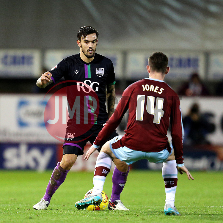 Marlon Pack of Bristol City and Burnley's David Jones  - Mandatory byline: Matt McNulty/JMP - 07966 386802 - 28/12/2015 - FOOTBALL - Turf Moor - Burnely, England - Burnley v Bristol City - Sky Bet Championship