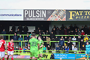 Pulsin Ad board during the EFL Sky Bet League 2 match between Forest Green Rovers and Walsall at the New Lawn, Forest Green, United Kingdom on 8 February 2020.