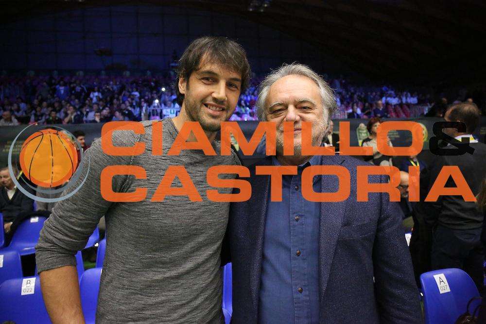 Gianluca Basile Stefano Landi<br /> <br /> Poste Mobile Final Eight F8 2017 <br /> Lega Basket 2016/2017<br /> Rimini, 17/02/2017<br /> Foto Ciamillo-Castoria