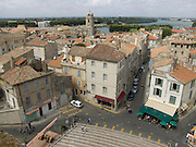 view over Arles and River Rhone