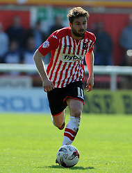 Exeter City's Aaron Davies - Photo mandatory by-line: Harry Trump/JMP - Mobile: 07966 386802 - 18/04/15 - SPORT - FOOTBALL - Sky Bet League Two - Exeter City v Southend United - St James Park, Exeter, England.