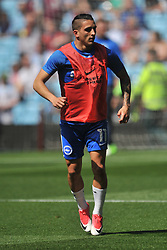ANTHONY KNOCKAERT  BRIGHTON AND HOVE ALBION HOLDS Aston Villa v Brighton &amp; Hove Albion Sky Bet Championship Villa Park, Brighton Promoted to Premiership Sunday 7th May 2017 Score 1-1 <br /> Photo:Mike Capps