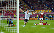 Lars Bender of Germany celebrates scoring their second goal during the UEFA EURO 2012 group B match between Denmark and Germany at Arena Lviv on June 17, 2012 in L'viv, Ukraine.