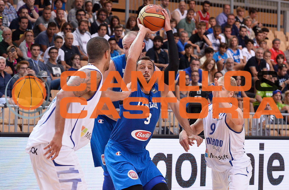 DESCRIZIONE : Capodistria Koper Nazionale Italia Uomini Adecco Cup Italia Italy Finlandia Finland<br /> GIOCATORE : Marco Belinelli<br /> CATEGORIA : tiro<br /> SQUADRA : Italia Italy<br /> EVENTO : Adecco Cup<br /> GARA : Italia Italy Finlandia Finland<br /> DATA : 21/08/2015<br /> SPORT : Pallacanestro<br /> AUTORE : Agenzia Ciamillo-Castoria/R.Morgano<br /> Galleria : FIP Nazionali 2015<br /> Fotonotizia : Capodistria Koper Nazionale Italia Uomini Adecco Cup Italia Italy Finlandia Finland