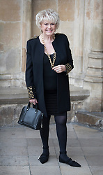 © Licensed to London News Pictures. 27/09/2016.  Gloria Hunniford arrives for a Service of Thanksgiving for the Life and Work of Sir Terry Wogan at Westminster Abbey. Veteran broadcaster Sir Terry Wogan died in January 2016. The Irish star had a long and successful career at the BBC, including stints on  radio and TV. London, UK. Photo credit: Peter Macdiarmid/LNP