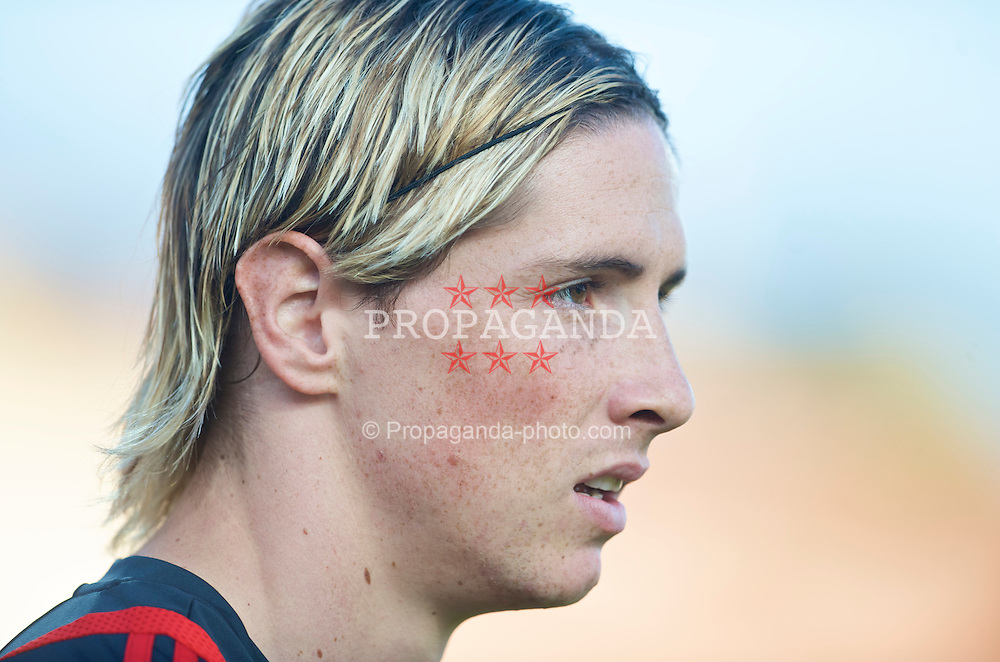 OSLO, NORWAY - Wednesday, August 5, 2009: Liverpool's Fernando Torres during a preseason match against FC Lyn Oslo at the Bislett Stadion. (Pic by David Rawcliffe/Propaganda)