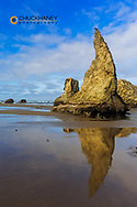 The Whizards Hat formation at Bandon Beach in Bandon, Oregon, USA