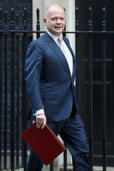 © licensed to London News Pictures. London, UK 08/01/2014. Foreign Secretary, William Hague leaving Downing Street on Wednesday, 08 January 2014. Photo credit: Tolga Akmen/LNP