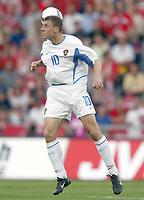 Fotball<br /> EM-kvalifisering 07.06.2003<br /> Sveits v Russland<br /> Denis Popov - Russland<br /> Foto: Jean-Marie Hervio, Digitalsport