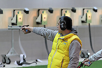 LONDON - APRIL 20: The International Shooting Sport Federation World Cup, ISSF Shooting World Cup 2012 held at the Royal Artillery Barracks, Woolwich Arsenal, London, UK. April 20, 2012. (Photo by Richard Goldschmidt)
