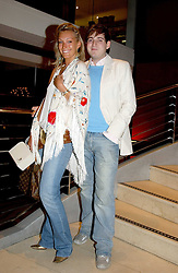 OLIVIA BUCKINGHAM and RICHARD DENNEN at a night of Cuban Cocktails and Cabaret hosted by Edward Taylor and Charles Beamish at Floridita, 100 Wardour Street, London W1 on 14th April 2005.<br /><br />NON EXCLUSIVE - WORLD RIGHTS