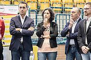 Melfi, Basilicata, Italia, 21/05/2016<br /> Da sinistra, il vicepresidente della Camera dei Deputati, Luigi Di Maio, la deputata del M5S, Mirella Liuzzi, il senatore del M5S, Vito Petrocelli<br /> <br /> Melfi, Basilicata, Italia, 21/05/2016<br /> From the left, the vice president of the Chamber of Deputies, Luigi Di Maio, the member of Parliament of the M5S, Mirella Liuzzi, the senator of the M5S, Vito Petrocelli.