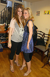 Left to right, INDIA STANDING and CHARLOTTE NOBLE at an exhibition of art by Oscar Humphries entitles 'Post-Nuclear Family' held at Nutters, Lower Ground, 12 Savile Row, London on 8th June 2006.<br /><br />NON EXCLUSIVE - WORLD RIGHTS