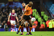 Wolverhampton Wanderers defender (on loan from Porto ) Willy Boly (15) on defensive duties  during the EFL Sky Bet Championship match between Aston Villa and Wolverhampton Wanderers at Villa Park, Birmingham, England on 10 March 2018. Picture by Dennis Goodwin.