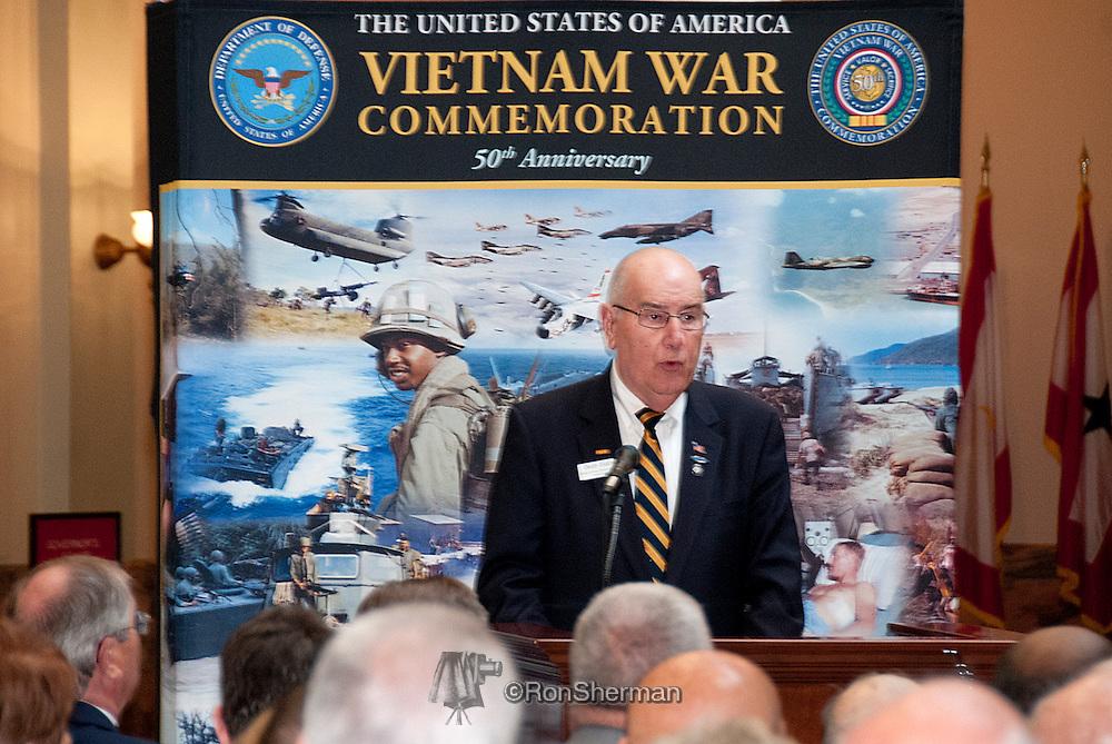 Vietnam Veterans Day in Georgia - A tribute to Georgia Vietnam Medal of Honor Recipients, Atlanta, Georgia - Robert Babcock President National 4th Infantry Division Association and AVVBA Member