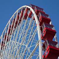 Picture of Ferris Wheel in Chicago.