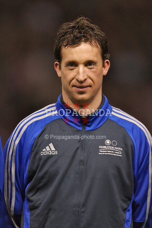 Manchester, England - Tuesday, March 13, 2007: Liverpool player Robbie Fowler before appearing for a Europe all-star XI against Manchester United during the UEFA Celebration Match at Old Trafford. (Pic by David Rawcliffe/Propaganda)