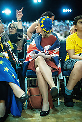© Licensed to London News Pictures . 15/09/2019. Bournemouth, UK. Members of the audience listen during a debate and vote to pass a motion to revoke article 50 should they form the next government. The Liberal Democrat Party Conference at the Bournemouth International Centre . Photo credit: Joel Goodman/LNP