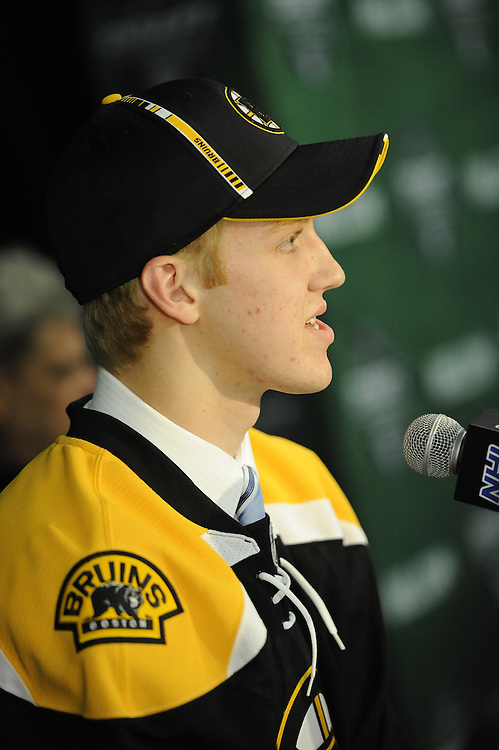 Dougie Hamilton of the Niagara IceDogs was selected by the Boston Bruins in the 2011 NHL Entry Draft in St. Paul, MN on Friday June 24. Photo by Aaron Bell/CHL Images