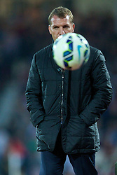 LONDON, ENGLAND - Saturday, September 20, 2014: Liverpool's manager Brendan Rodgers during the Premier League match against West Ham United at Upton Park. (Pic by David Rawcliffe/Propaganda)