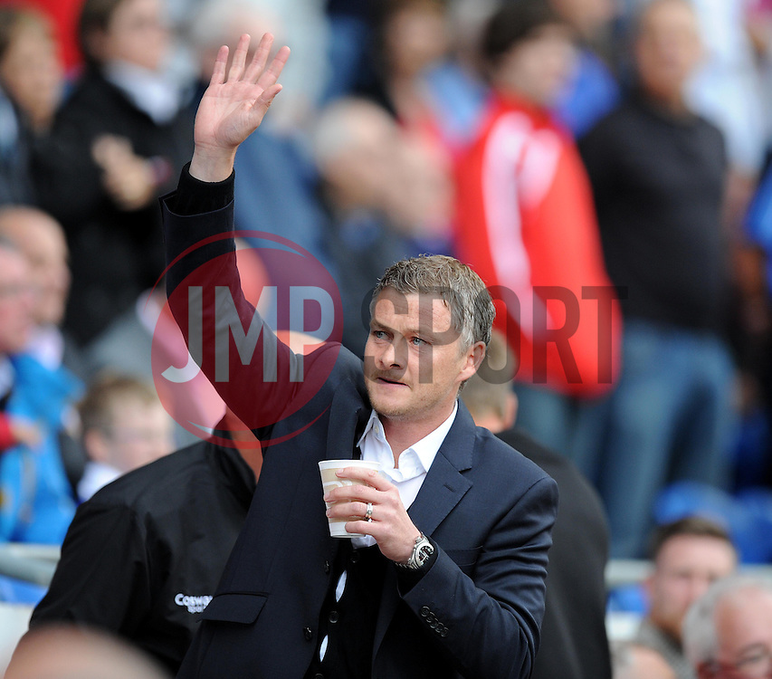 Cardiff City Manager, Ole Gunnar Solskjær - Photo mandatory by-line: Alex James/JMP - Mobile: 07966 386802 30/08/2014 - SPORT - FOOTBALL - Cardiff - Cardiff City stadium - Cardiff City  v Norwich City - Barclays Premier League