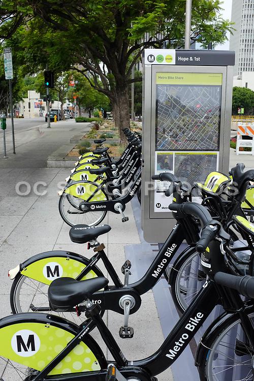 Metro Bike Sharing Station On Hope & 1st