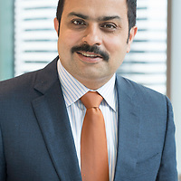 Rahul Chadha, Co-Chief Investment Officer at Mirae Asset Global Investments, poses for a photograph on 31 March 2017, in Three Pacific Place, Hong Kong, China. Photo by Victor Fraile / studioEAST