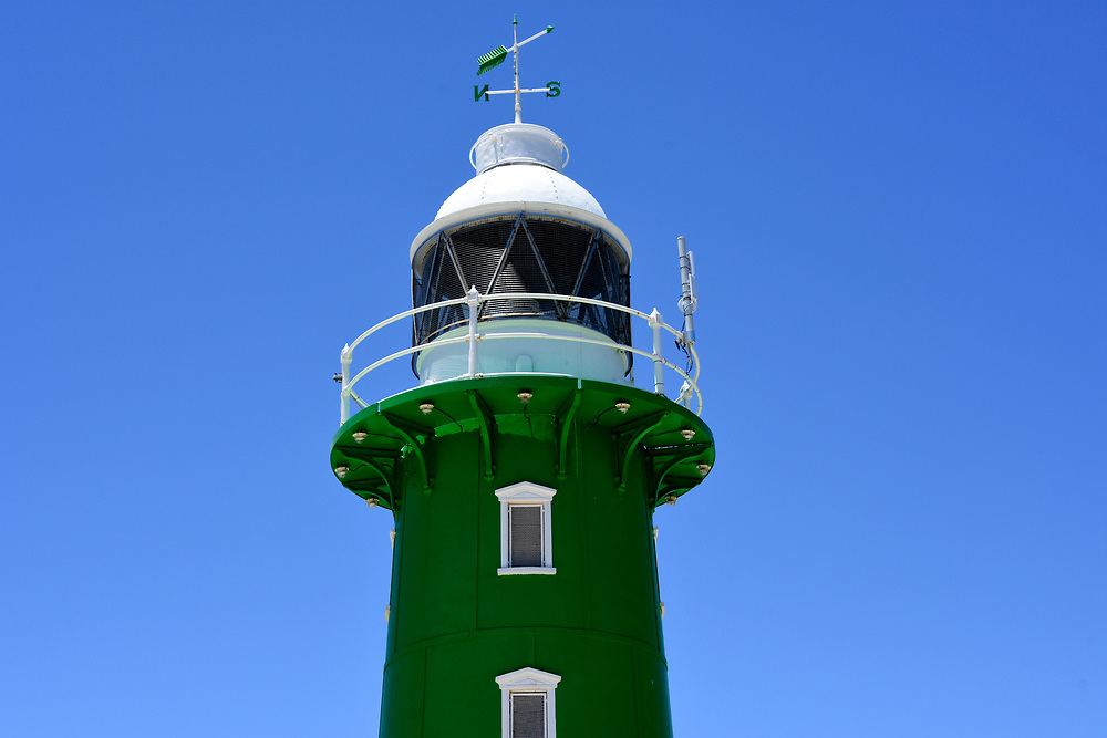 Starboard green light house at the entrance to Freemantle Harbour