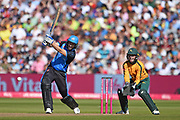 Wayne Parnell of Worcestershire Rapids batting  during the Vitality T20 Finals Day 2019 match between Notts Outlaws and Worcestershire Rapids at Edgbaston, Birmingham, United Kingdom on 21 September 2019.