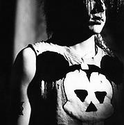 A Punk, Rocker, wearing a T-shirt, UK 1980