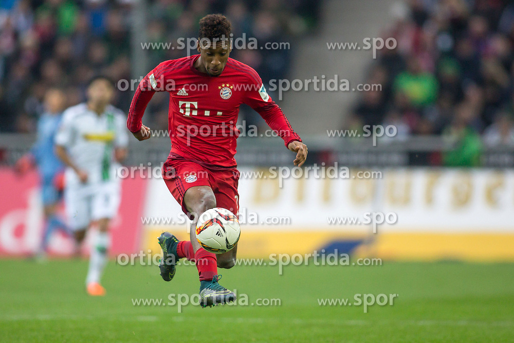 05.12.2015, Stadion im Borussia Park, Moenchengladbach, GER, 1. FBL, Borussia Moenchengladbach vs FC Bayern Muenchen, 15. Runde, im Bild Kingsley Coman (FC Bayern Muenche #29) // during the German Bundesliga 15th round match between Borussia Moenchengladbach and FC Bayern Muenchen at the Stadion im Borussia Park in Moenchengladbach, Germany on 2015/12/05. EXPA Pictures &copy; 2015, PhotoCredit: EXPA/ Eibner-Pressefoto/ Sch&uuml;ler<br /> <br /> *****ATTENTION - OUT of GER*****