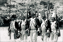 Slide 4 - British troops are joined by Gen. Wilhelm Knyphausen with his two Hessian Jeager battalions. Highly skilled Hessians from South Germany were hired by the Brits as tactical enforcement...