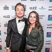 NLD/Rotterdam/20161102 - MTV Music Week Official Opening Party 2016, Julian Jordan en partner Paula de Kruif