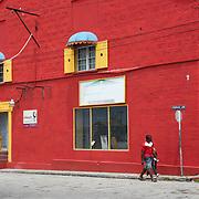 Colorful Architecture in Bridgetown, Barbados