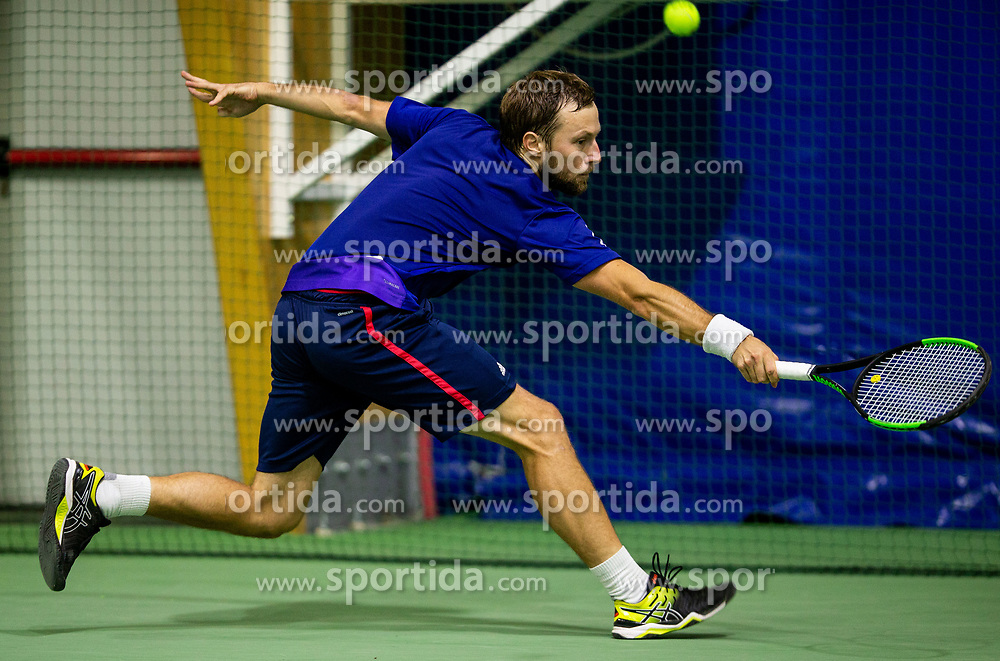 Tom Kocevar Desman playing final match during Slovenian National Tennis Championship 2019, on December 21, 2019 in Medvode, Slovenia. Photo by Vid Ponikvar/ Sportida