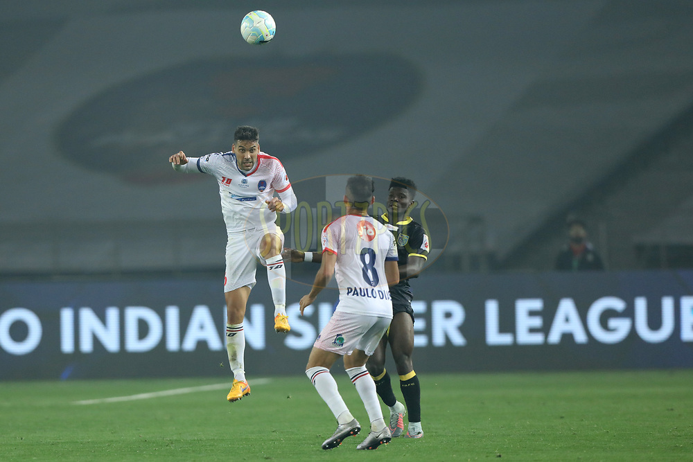 Gabriel Cichero of Delhi Dynamos FC during match 43 of the  Hero Indian Super League between Delhi Dynamos FC and Kerala Blasters FC  held at the Jawaharlal Nehru Stadium, Delhi, India on the 10th January 2018<br /> <br /> Photo by: Arjun Singh  / ISL / SPORTZPICS